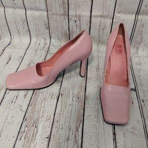 BCBG square toe heels